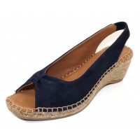 Andre Assous Women's Lace In Navy Suede