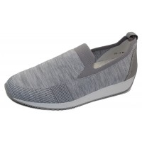 Ara Women's Leena In Grey/Silver Woven Stretch Fabric