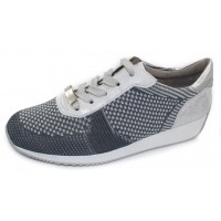 Ara Women's Lilly In Grey/Silver Woven Stretch Fabric
