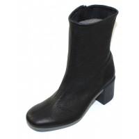 Arche Women's Anguss In Noir Cerf Grain Leather - Black