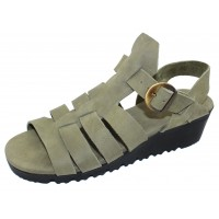 Arche Women's Balzam In Ecume Timber Leather - Light Pastel Olive
