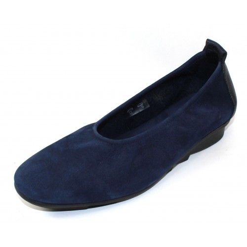 Arche Women's Bibara In Malo Hunter Nubuck/Nuit Shade Leather - True Blue/Deep Navy