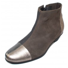 Arche Women's Cynqua In Micas/Basalt Shade Leather/Lauze/Castor Nubuck - Light Bronze/Gunmetal/Blue-Grey/Olive Grey