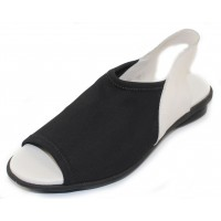 Arche Women's Dajac In Noir Stretchy/Blanc Rocky Leather - Black/White