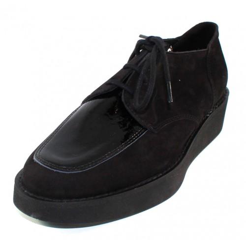 Arche Women's Daliro In Noir Nubuck/Lakna Patent Leather - Black