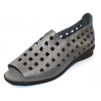 Arche Women's Drick In Iron Fast Metal Leather - Gun Metal