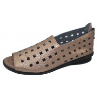 Arche Women's Drick In Moon Fast Metal Leather - Bronze