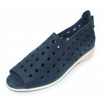 Arche Women's Drick In Navy Timber Calf Leather/White Sole