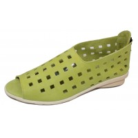 Arche Women's Drick In Yuzu Timber Calf Leather - Lime Green