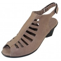 Arche Women's Enexor In Sabbia Timber Calf Leather - Taupe