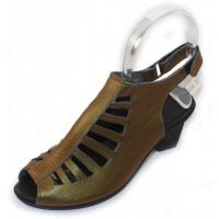 Arche Women's Enexor In Skara Fast Metal Smooth Calfskin Leather - Metallic Olive