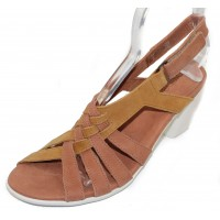Arche Women's Farham In Camel/Muse Timber Leather - Brownish-Yellow/Peach-Tan Rose