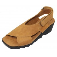 Arche Women's Himali In Camel Timber Lightly Buffed Calf Suede - Timberland Brown/Yellow