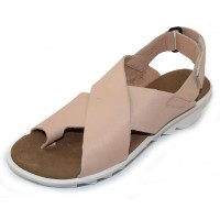 Arche Women's Ikam In Nude Timber Lightly Buffed Calf Suede - Peach Nude