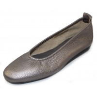 Arche Women's Laius In Ottone Wally Metallic Grain Leather - True Silver