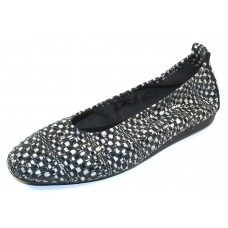 Arche Women's Laius In Granite Popa Embossed Patent Leather - Black & White