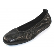 Arche Women's Laius In Nero Souan Metallic Crackle Leather - Black