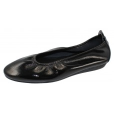 Arche Women's Laius In Noir Lack Crinkle Patent Leather - Black