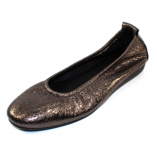 Arche Women's Laius In Stella Souan Metallic Crackle Leather - Silver