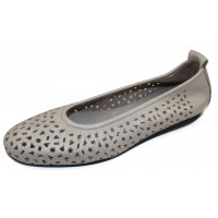Arche Women's Lilly In Nacre Fast Metal Pearlized Leather - Metallic Gunmetal