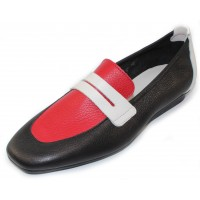 Arche Women's Matana In Noir/Feu/Blanc Rocky Leather - Black/Red/White