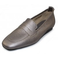 Arche Women's Matana In Ottone Wally Metallic Grain Leather - True Silver