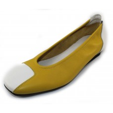 Arche Women's Matcha In Mimosa/Blanc Leather - Yellow/White