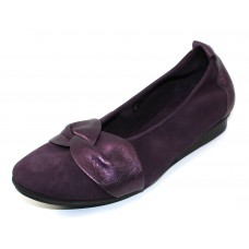 Arche Women's Ninika In Muscat Nubuck/Shade Metallic Leather - Eggplant