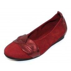 Arche Women's Ninika In Opera Nubuck/Shade Metallic Leather - Red