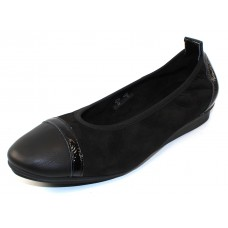 Arche Women's Ninour In Noir Nubuck/Leather/Patent Leather - Black