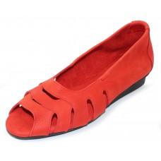 Arche Women's Ninova In Coclico Timber Pebble Leather - Orange Red