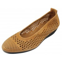 Arche Women's Onakho In Camel Timber Calf Leather