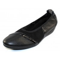 Arche Women's Onyzan In Noir Hopi Grain Leather/Nubuck/Lack Patent Leather - Black