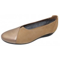 Arche Women's Onyzea In Moon Fast Metal Leather/Sand Nubuck - Bronze/Beige