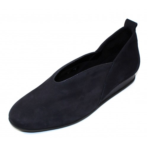 Arche Women's Piassy In Nuit Nubuck/Shade Pearlized Grain Leather - Deep Navy