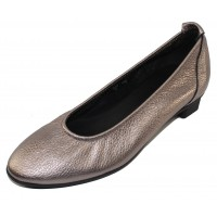 Arche Women's Raisha In Ottona/Noir Shiny Metallic Leather - Shiny Gunmetal/Black