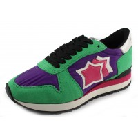 Atlantic Stars Women's Alhena In Green Suede/Purple Fabric