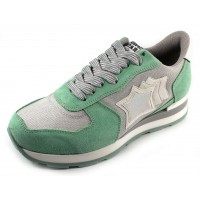 Atlantic Stars Women's Vega In Light Mint Suede/Grey Mesh Fabric