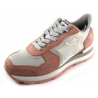 Atlantic Stars Women's Vega In Light Pink Suede/Grey Mesh Fabric