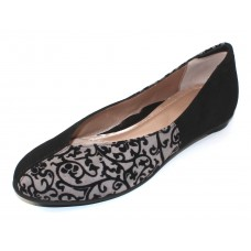 Beautifeel Women's Amada In Black Suede/Gray Baroque Emboseed Suede