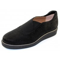 Beautifeel Women's Amber In Black Linear 3D Printed Suede