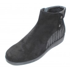 Beautifeel Women's Ana In Gray/Black 3D Spigato Embossed Suede