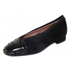 Beautifeel Women's Chante In Black Suede/Grand Embossed Leather