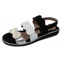 Beautifeel Women's Cleo In Black Suede/White/Silver Leather