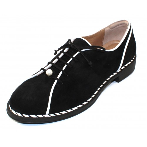 Beautifeel Women's Curtis In Black Suede/White Leather