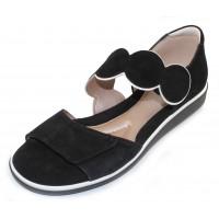 Beautifeel Women's Elba In Black Suede/White Leather