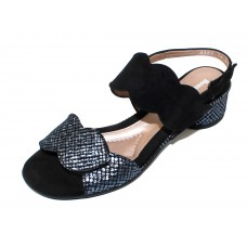 Beautifeel Women's Elsie In Black Embossed Tweed Suede/Suede