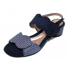 Beautifeel Women's Elsie In Navy Embossed Tweed Suede/Suede