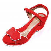 Beautifeel Women's Emma In Fire Red/White Suede