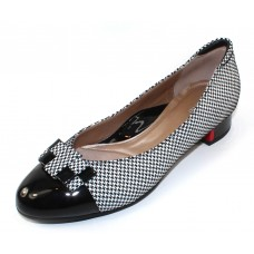 Beautifeel Women's Etta In Black Patent Leather/White Pied Embossed Suede